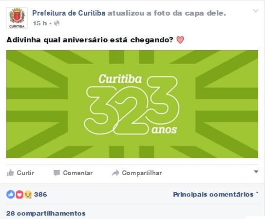 Prefs de Curitiba no face